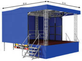 Audio Mobile Stage Hire Nottingham - Weatherproof Mobile Outdoor & Indoor Music Event & Festival Stage & PA Hire