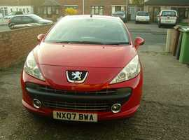 Peugeot 207, 2007 (07) Red Coupe, Manual Petrol, 76,000 miles
