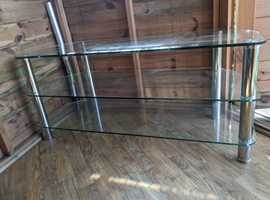 Large Heavy Duty Glass TV Unit