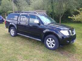 Nissan Navara Tekna Dci 188 manual 2.5 1 owner, fsh, sat nav, leather, climate, truckman top, reverse casmera, just 58000 miles with full history 1 ow