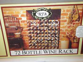 Natural Pine & Galvanised Steel 72 Bottle Wine Rack Kit Stand