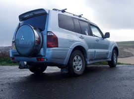 Mitsubishi Shogun, 2003 (53) Silver Estate, Automatic Diesel, 76,000 miles