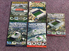 Fantastic set of 5 books, Football Grounds from the Air. Like new condition