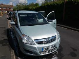 Vauxhall Zafira, 2008 (58) Green MPV, Manual Petrol, 77,688 miles