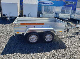 BRAND NEW DOUBLE AXLE TRAILER FLAT TIPPING 7.7x4.2