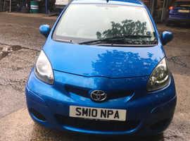 Toyota Aygo, 2010 (10) blue hatchback, Manual Petrol, 104000 miles