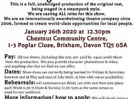 Open theatre auditions: Shakespeare's A Midsummer Nights Dream