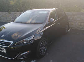 Peugeot 308, 2017 (17) Black Hatchback, Manual Diesel, 60,000 miles