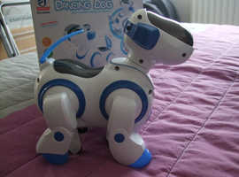 ELECTRONIC ROBOT BARKING DANCING DOG TOY WITH STEERING LIGHTS & MUSIC,