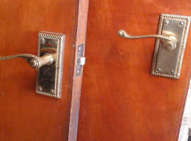 6 sapele doors with brass handles 30 pounds for a quick sale