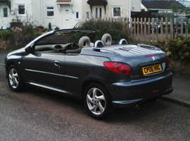 Peugeot 206, 2006 (06) Grey Coupe, Manual Petrol, 1,800 miles