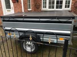 """Factory built 6ft 7"""" x 3ft 6"""" trailer + extension sides/cover"""