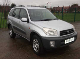 Toyota Rav4, 2001 (51) Silver Estate, Manual Petrol, 80,558 miles