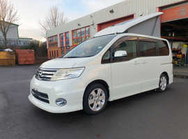 NISSAN SERENA BY WELLHOUSE 2010 2.0i (Petrol) 137ps Auto in black, by Wellhouse 4/5-seater with rear conversion