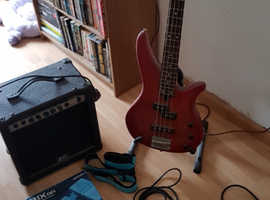 Yamaha bass guitar and acssories
