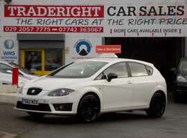 2012/62 Seat Leon 2.0 TDi CR FR Plus finished in Arctic White. 81,306 miles