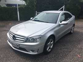 Mercedes CLC 1.8K SE 2008 (58) Silver Coupe, Automatic Petrol, 81K FSH HALF LEATHER  HPI CLEAR