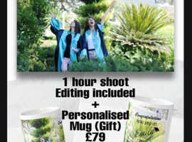 Graduation Photography London - 1 hour PS - Edit + Personelised MUG Gift