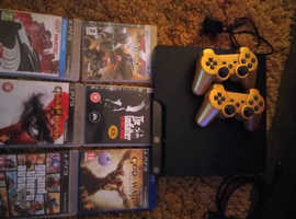 Ps3 120gb, wireless controllers, leads and 6 games