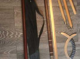 Martial art training weapons , swords etc