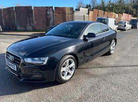 Audi A5, 2014 (64) Black Coupe, Manual Diesel, 58,213 miles
