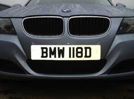 *BMW 118D* NUMBER PLATE FOR SALE!