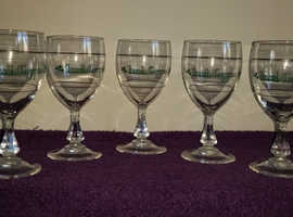 vintage Irish coffee glasses