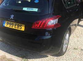 Peugeot 308, 2014 (14) Black Hatchback, Manual Diesel, 60,000 miles