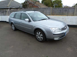 Ford Mondeo, 2004 (54) Silver Estate, Manual Petrol, 107,000 miles