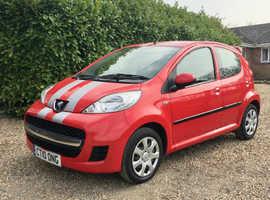 Peugeot 107, 2010 (10) Red Hatchback, Manual Petrol, 62,549 miles