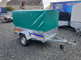 BRAND NEW Trailer 7x4 tipping with cover and 80cm ramp £840