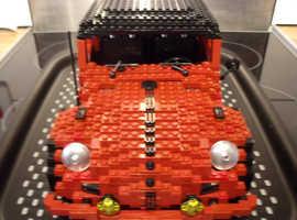 dark red lego custom built beetle - 2008