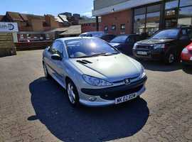 Peugeot 206, 2002 (02) Silver Coupe, Automatic Petrol, 38,980 miles