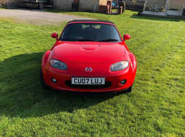 Mazda MX-5, 2007 (07) Red Convertible, Manual Petrol, 62,000 miles