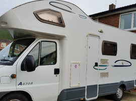 6 BIRTH MOTORHOME FOR SALE A670 2.8 JTG 29000 MILES.