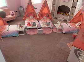 Slumber fun sleep over party bedfordshire uk