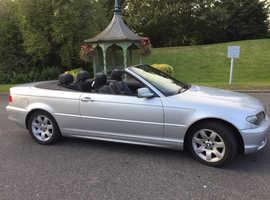 BMW 318 CI, 2003 (53) Silver Convertible, Manual Petrol, 61,000 miles One Owner Full Yr MOT