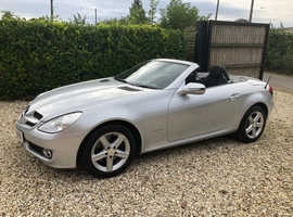 Mercedes Slk, 2008 (58) Silver Convertible, Manual Petrol, 77,383 miles 2 former keepers new mot.service