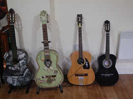 4 ACOUSTIC GUITARS FOR DISPLAY