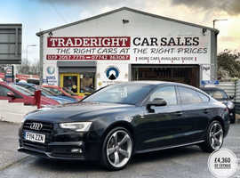 2014/14 Audi A5 2.0 TDi S-Line Black Edition Automatic finished Phantom Black Metallic.  74981 miles