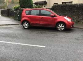 Nissan Note, 2008 (08) Red MPV, Manual Petrol, 125,000 miles