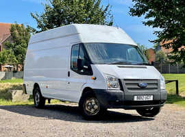 2012 (12) FORD TRANSIT JUMBO 350 LWB High Roof 2.2 DIESEL 5 Dr in WHITE, only 69k Miles, Ideal Camper conversion.