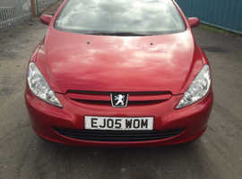Peugeot 307, 2005 (05) Red Coupe, Manual Petrol, 79,000 miles