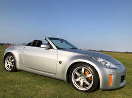 Nissan 350 Z, 2008 (08) Met silver with new black mohair hood.  Convertible, Manual Petrol, 63k miles immaculate condition