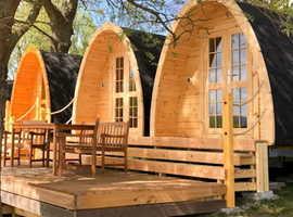 Camping Pod 2,4 x 3,0m Log Cabin / 1 room