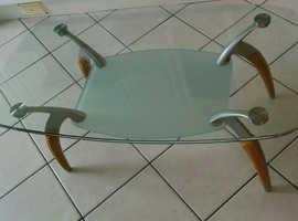 Glass coffee table - 114cm x 65cm