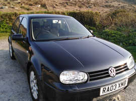Volkswagen Golf, 2003 (03) Black Hatchback, Manual Diesel, 140,250 miles
