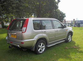 Nissan X-TRAIL, 2003 (03) Silver Estate, Manual Petrol, 2,5 sve  122,000 miles