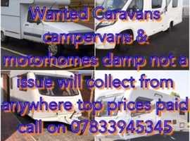 Caravan campervan motorhomes wanted