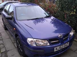 Nissan Almera, 2002 (52) Blue Hatchback, Automatic Petrol, 54,309 miles